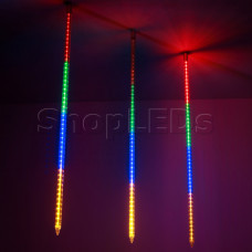 Светодиодная гирлянда ARD-ICEFALL-CLASSIC-D23-1000-CLEAR-96LED-LIVE RGB (230V, 1.5W)