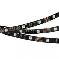 Лента SPI-5000-AM 12V RGB (5060,150 LED x3,1804, Black)