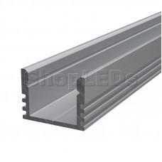 Профиль накладной алюминиевый 1612-2 2 м REXANT