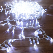Гирлянда «Кластер» 10 м, 400 LED, прозрачный ПВХ, IP65, соединяемая, цвет свечения белый NEON-NIGHT