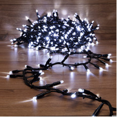 Гирлянда «Кластер» 10 м, 400 LED, черный каучук, IP67, соединяемая, цвет свечения белый NEON-NIGHT