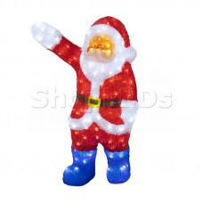 """Акриловая светодиодная фигура """"Санта Клаус приветствует"""" 60 см, 200 светодиодов, IP44 понижающий трансформатор в комплекте, NEON-NIGHT"""