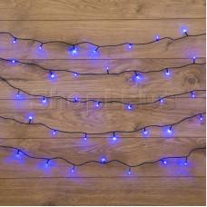 Гирлянда Твинкл Лайт 6 м, темно-зеленый ПВХ, 40 LED, цвет: Синий