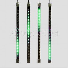 Сосулька светодиодная 50 см, 9,5V, двухсторонняя, 32х2 светодиодов, пластиковый корпус черного цвета, цвет светодиодов зеленый