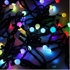 """Гирлянда """"LED - шарики"""", Мульти Ø17,5мм, Ø23мм, Ø17,5мм, Ø45мм 10м 80 диодов"""