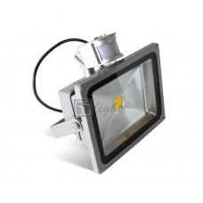 Светодиодный прожектор с датчиком движения 50W IP65 220V White
